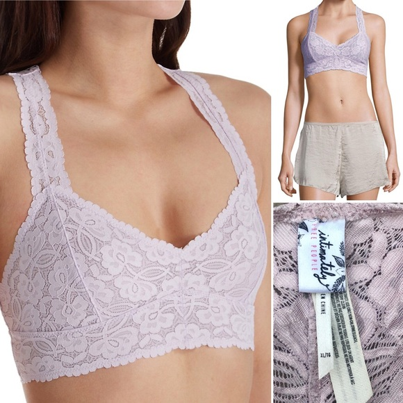 1f8da7954f81e Free People Other - Free People Lilac Galloon Lace Racerback Bralette